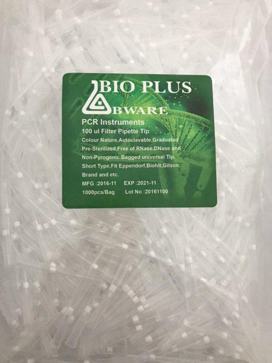 نوک سمپلر فیلتردار 100 لاندا استریل بایوپلاس PCR