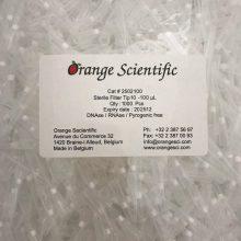 نوک سمپلر فیلتردار 100 لاندا استریل اورنج RNAS & DNAS Free