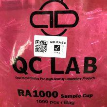 سمپل کاپ آزمایشگاهی RA1000 چهار پر کیو سی لب بسته 1000 عددی